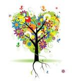 kwiecisty kierowy kształta lato drzewo royalty ilustracja