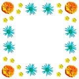 Kwiecisty kolorowy deseniowy tło set Zdjęcia Royalty Free