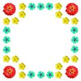 Kwiecisty kolorowy deseniowy tło set Zdjęcia Stock