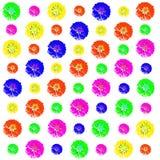 Kwiecisty kolorowy deseniowy tło set Obrazy Stock
