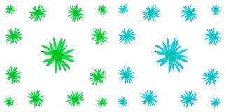 Kwiecisty kolorowy deseniowy tło set Obraz Stock