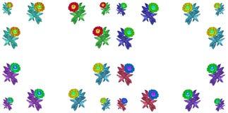 Kwiecisty kolorowy deseniowy tło set Obrazy Royalty Free