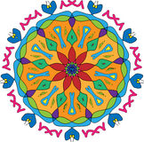 kwiecisty kolorowy projekt Fotografia Royalty Free