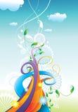 kwiecisty koloru projekt ilustracji