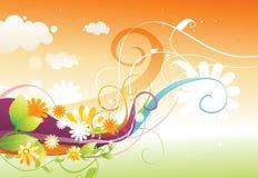 kwiecisty koloru projekt ilustracja wektor