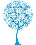 kwiecisty konturu sylwetki drzewo Fotografia Stock