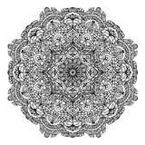Kwiecisty kurenda wzoru mandala dla barwić strona konturu ilustrację ilustracji