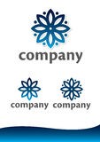 kwiecisty logotyp Obrazy Stock