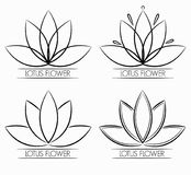 Kwiecisty Lotosowego kwiatu loga abstrakt Fotografia Royalty Free