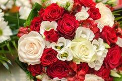 Kwiecisty ślubny przygotowania Zdjęcia Royalty Free