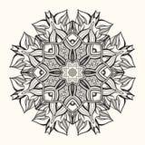 Kwiecisty mandala dekoracyjny ornament Obrazy Stock