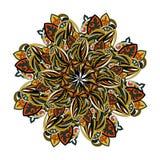 Kwiecisty mandala etniczny ornament dla dekoraci orientalny styl Zdjęcie Royalty Free