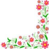 Kwiecisty narożnikowy ornament Fotografia Royalty Free