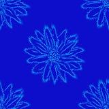 Kwiecisty ornament na ciemnym tle, bezszwowy wzór Fotografia Royalty Free