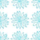 Kwiecisty ornament na lekkim tle, bezszwowy wzór Fotografia Stock