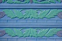Kwiecisty ornament na ogrodzeniu Zdjęcia Royalty Free