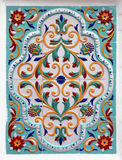 Kwiecisty ornament na płytkach Zdjęcia Stock