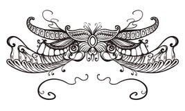 Kwiecisty ornament, typografia Zdjęcia Royalty Free
