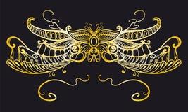 Kwiecisty ornament, typografia Obraz Royalty Free