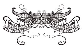 Kwiecisty ornament, typografia Zdjęcie Stock