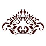 Kwiecisty ornament z liśćmi i zawijasami Obrazy Royalty Free
