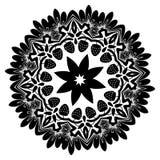 Kwiecisty ornament z truskawek sylwetkami Obraz Stock