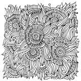 Kwiecisty ornamentacyjny doodles wektoru tło Zdjęcia Stock