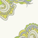 Kwiecisty ornamentacyjny szablon Zdjęcia Stock