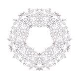 kwiecisty ornamental kwiecisty wzór Dekoracyjna kreskowej sztuki rama dla projekta szablonu Elegancki wektorowy element, miejsce  Obraz Royalty Free