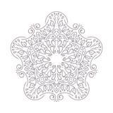 kwiecisty ornamental kwiecisty wzór Dekoracyjna kreskowej sztuki rama dla projekta szablonu Elegancki wektorowy element, miejsce  Obrazy Stock