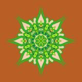 kwiecisty ornamental kwiecisty wzór Kolorowy ornament z rocznikiem Zdjęcie Royalty Free