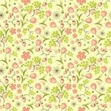 Kwiecisty, owoc i jagodowy kolorowy bezszwowy wzorze, Obrazy Royalty Free