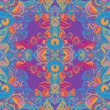 Kwiecisty Paisley indyjski ozdobny bezszwowy wzór Fotografia Royalty Free