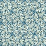 Kwiecisty piękny błękitny bezszwowy wzór. Obrazy Stock