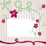 kwiecisty pocztówkowy szablon Obraz Royalty Free