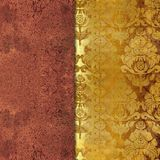 Kwiecisty podławy złoty barwiony tło ilustracji