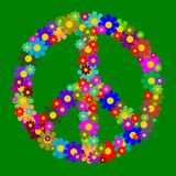 Kwiecisty pokoju symbol Obraz Royalty Free