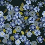 Kwiecisty powtórka druku wzór Markotni Colours w barwinka błękicie ilustracji