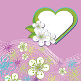 Kwiecisty projekt dla ślubnego szablonu. Wiosna kwiaty, Ilustracji