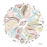Kwiecisty projekt, miłość Obraz Royalty Free