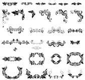 Kwiecisty przybranie (czarny i biały) royalty ilustracja