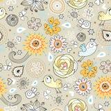 kwiecisty ptaka wzór Obraz Stock