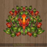 Kwiecisty ręka remisu element od kwiat jagod i liści Obrazy Stock