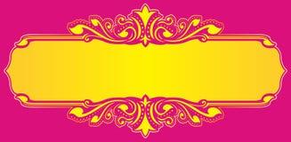 Kwiecisty ramowy żółty wektor Zdjęcia Stock