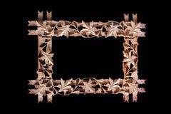 kwiecisty ramowy drewniany Obrazy Stock