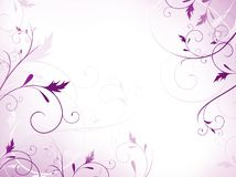 kwiecisty ramowy fiołek Obraz Royalty Free