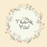 Kwiecisty ramowy kartka z pozdrowieniami pojęcie dziękować ty ilustracji