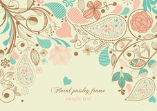 kwiecisty ramowy Paisley Zdjęcie Royalty Free