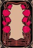kwiecisty ramowy rocznik Obrazy Royalty Free