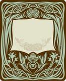 kwiecisty ramowy rocznik Fotografia Royalty Free